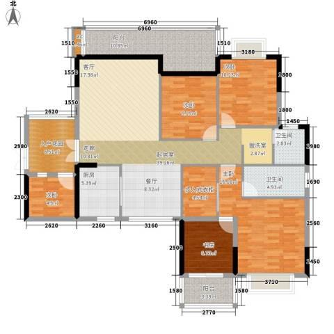 卧龙五洲世纪城5室0厅2卫1厨178.00㎡户型图