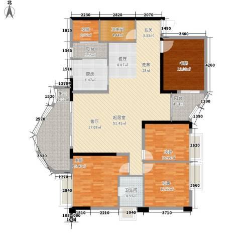 春江名都5室0厅2卫1厨196.00㎡户型图