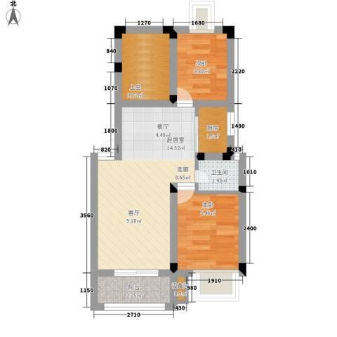 富郎中巷2室0厅1卫1厨40.00㎡户型图