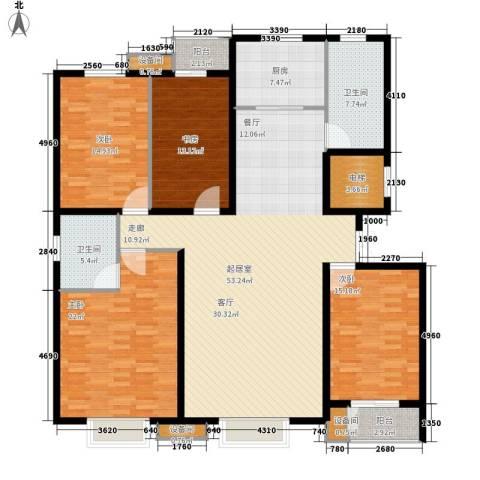 鑫和花园4室0厅2卫1厨168.00㎡户型图