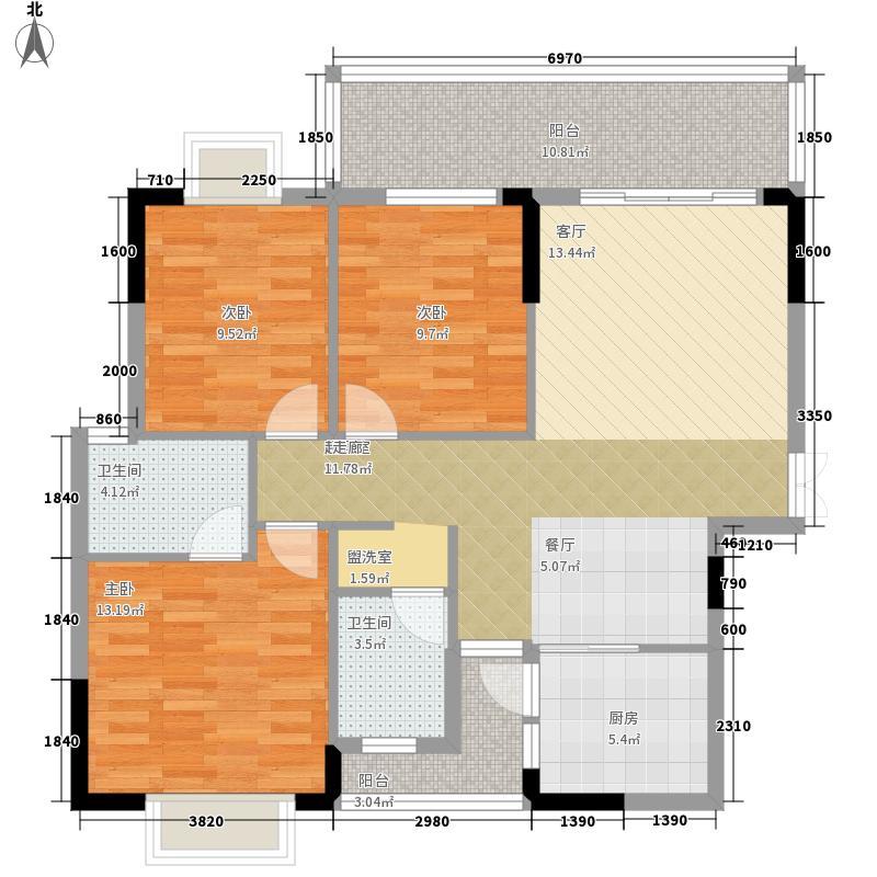 卧龙五洲世纪城B户型112平方米户型