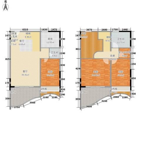 春江名都3室0厅2卫1厨370.00㎡户型图