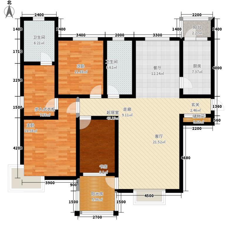 贻丰家园168.60㎡C3'面积16860m户型