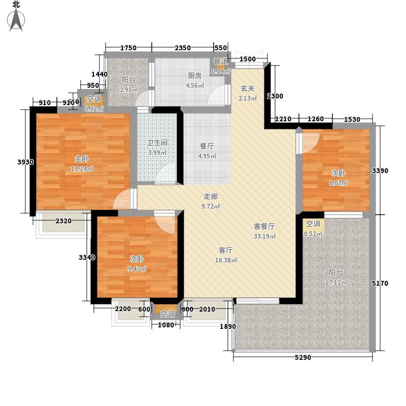 领峰112.52㎡二期三号楼标准层D1面积11252m户型