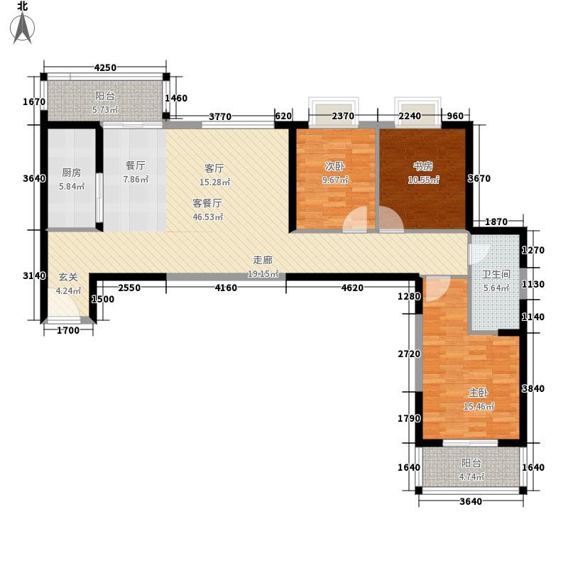 天朗御湖117.65㎡4#楼06号户型