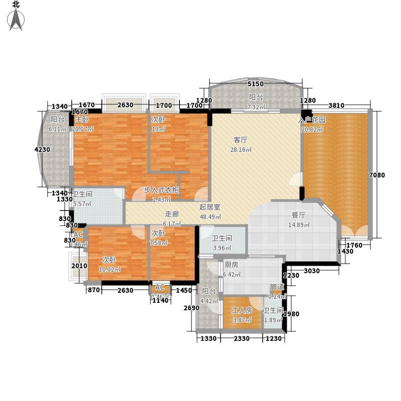 富力广场179.00㎡S4栋5-22层03单面积17900m户型