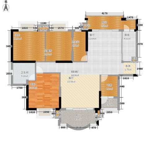 西安仪表厂101社区4室1厅2卫1厨157.00㎡户型图