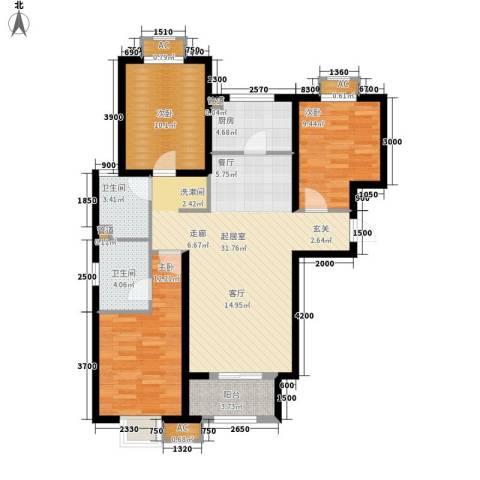 吉庆大厦3室0厅2卫1厨118.00㎡户型图
