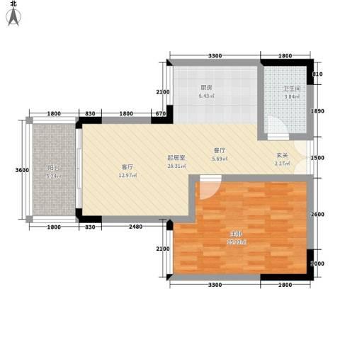 明佳苑1室0厅1卫0厨50.52㎡户型图