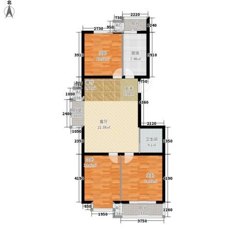 滨海未来城3室0厅1卫1厨103.00㎡户型图