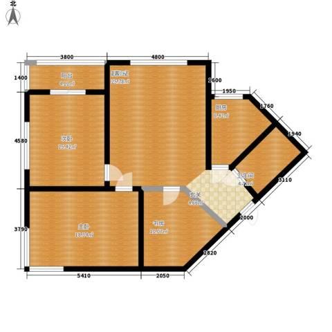 顺美华庭3室0厅1卫1厨102.00㎡户型图