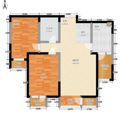 春江花月2室0厅1卫1厨98.00㎡户型图