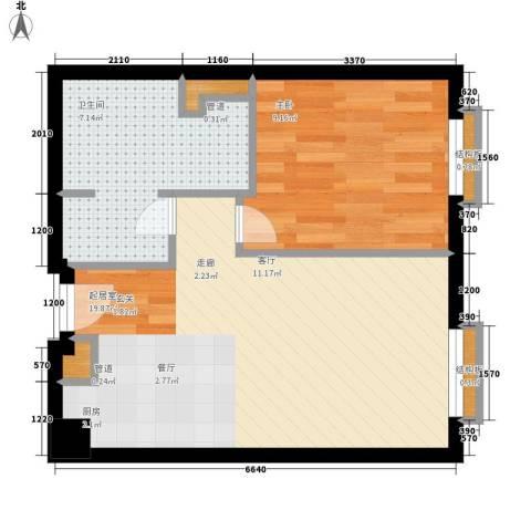 佳华世纪新城C区1室0厅1卫0厨43.00㎡户型图