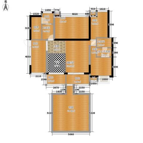 美年广场美岸2室0厅2卫1厨125.00㎡户型图