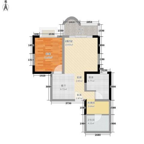 枫丹苑1卫1厨62.00㎡户型图