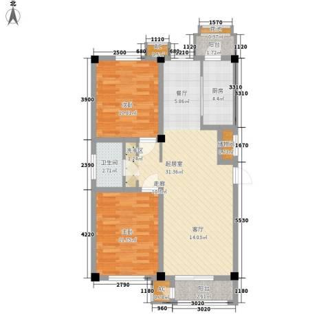 建投领海三期2室0厅1卫1厨97.00㎡户型图