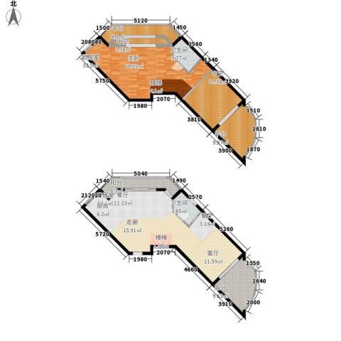 海巢2卫0厨193.00㎡户型图
