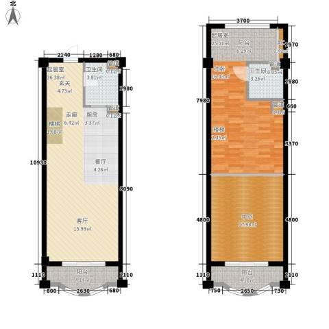 海巢2卫0厨135.00㎡户型图