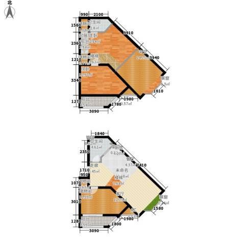 海巢1室0厅2卫0厨152.00㎡户型图
