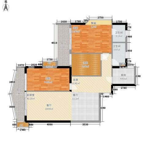 天一庄3室0厅2卫1厨156.00㎡户型图