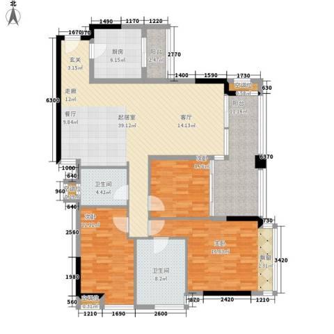 美汇半岛3室0厅2卫1厨157.00㎡户型图