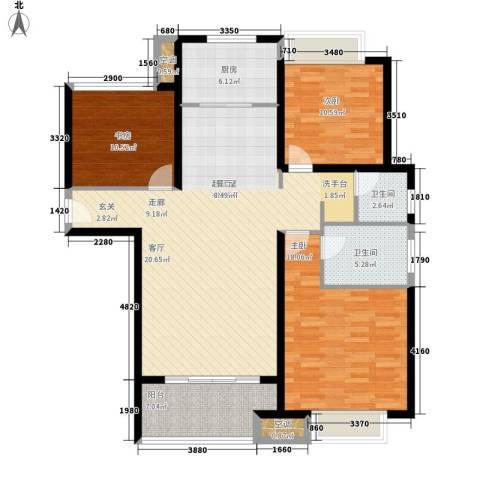 农房澜山3室0厅2卫1厨113.00㎡户型图