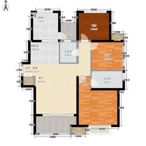 农房澜山3室0厅2卫1厨119.00㎡户型图