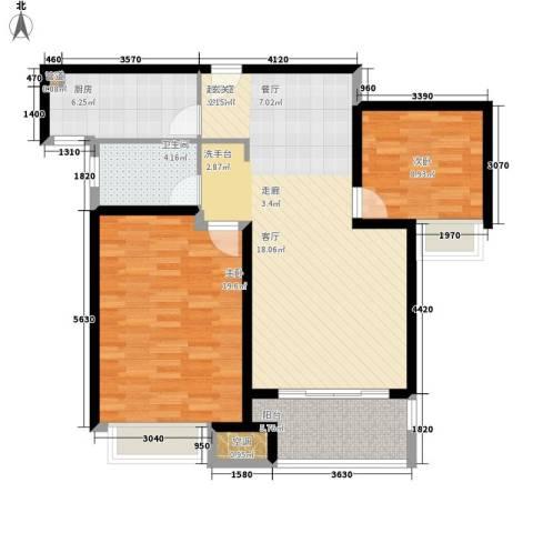 农房澜山2室0厅1卫1厨89.00㎡户型图