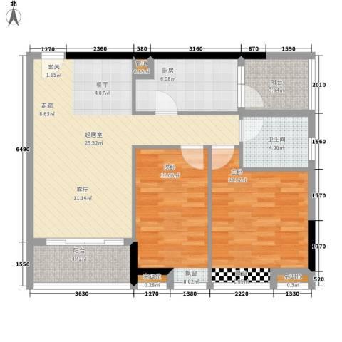 保利百合花园2室0厅1卫1厨79.00㎡户型图