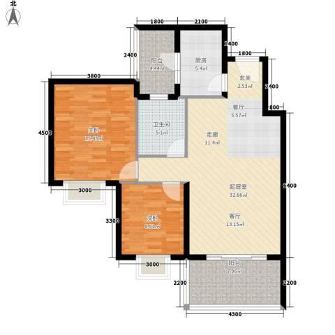 凯旋国际2室0厅1卫1厨82.00㎡户型图