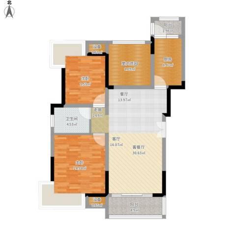 中海星湖国际2室1厅1卫1厨120.00㎡户型图