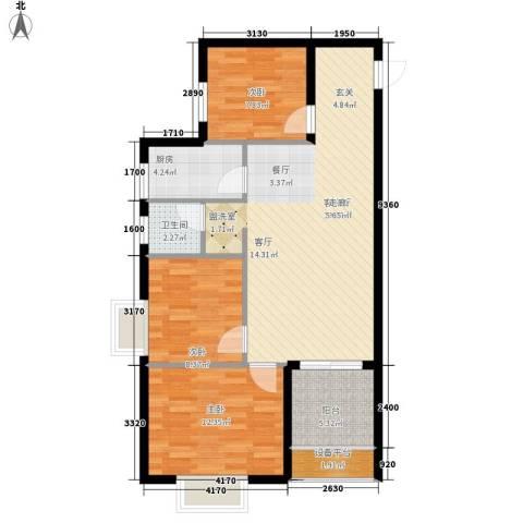 世纪一品3室1厅1卫1厨102.00㎡户型图
