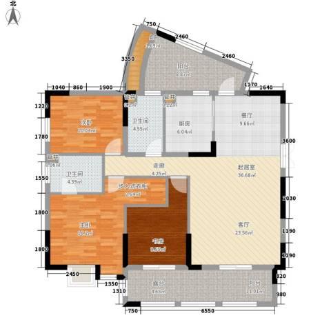 渝州路小区3室0厅2卫1厨156.00㎡户型图