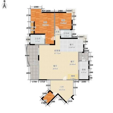 骏逸天下3室0厅2卫1厨215.00㎡户型图