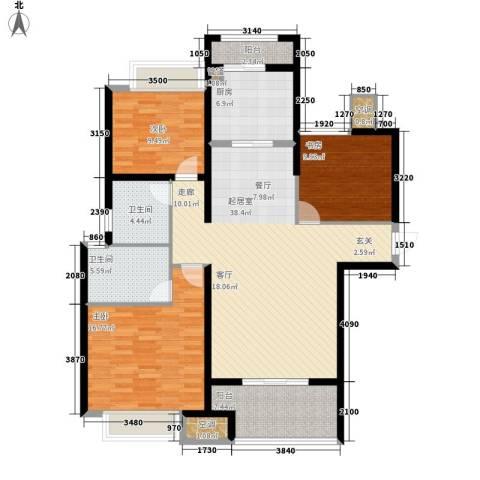 农房澜山3室0厅2卫1厨118.00㎡户型图