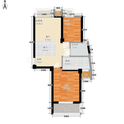 汉水熙园2室0厅1卫1厨74.00㎡户型图