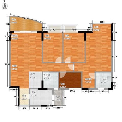 海龙湾4室0厅2卫1厨133.00㎡户型图