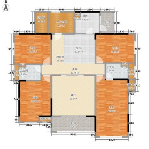 中源国际城4室1厅2卫1厨214.00㎡户型图