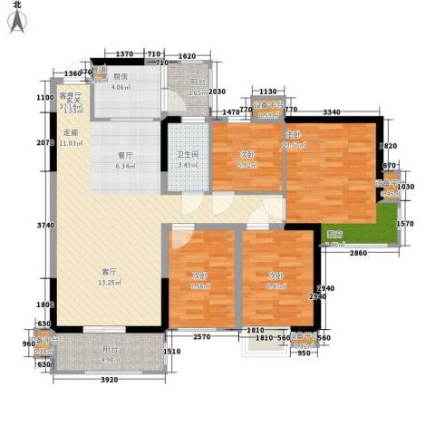 荟雅名苑4室1厅1卫1厨122.00㎡户型图