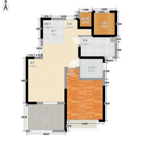 华辰丽景1室1厅1卫1厨92.00㎡户型图