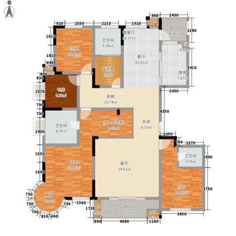 铭洋盛世钱门4室1厅3卫1厨207.00㎡户型图
