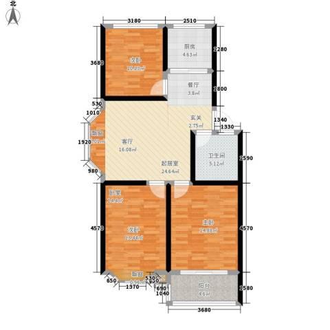 新华名郡2室0厅1卫1厨86.00㎡户型图