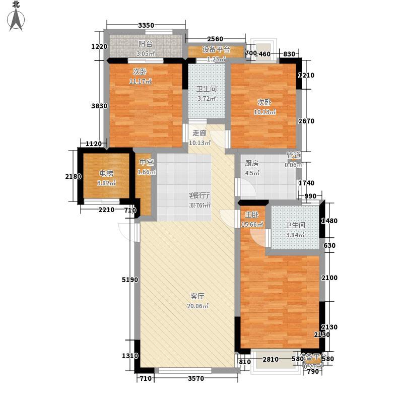 湖湘林语117.97㎡二期24号楼标准层1号户型