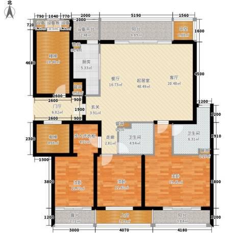 中原小区3室0厅2卫1厨203.00㎡户型图