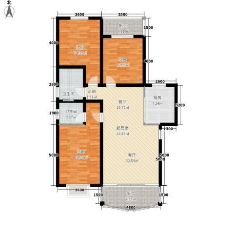 中原小区3室0厅2卫1厨151.00㎡户型图