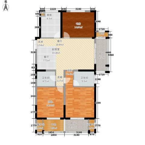 佳源广场3室0厅2卫1厨132.00㎡户型图
