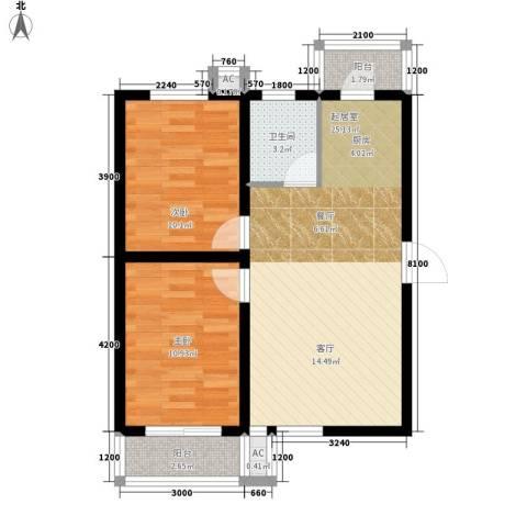 滨海未来城2室0厅1卫0厨77.00㎡户型图
