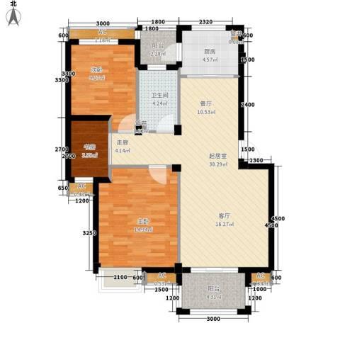 鸿翔小区3室0厅1卫1厨110.00㎡户型图
