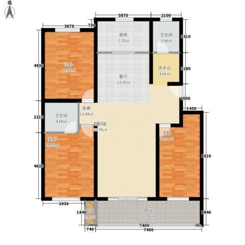 东城水岸3室0厅2卫1厨137.00㎡户型图