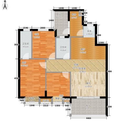 凯旋国际3室0厅2卫1厨102.00㎡户型图